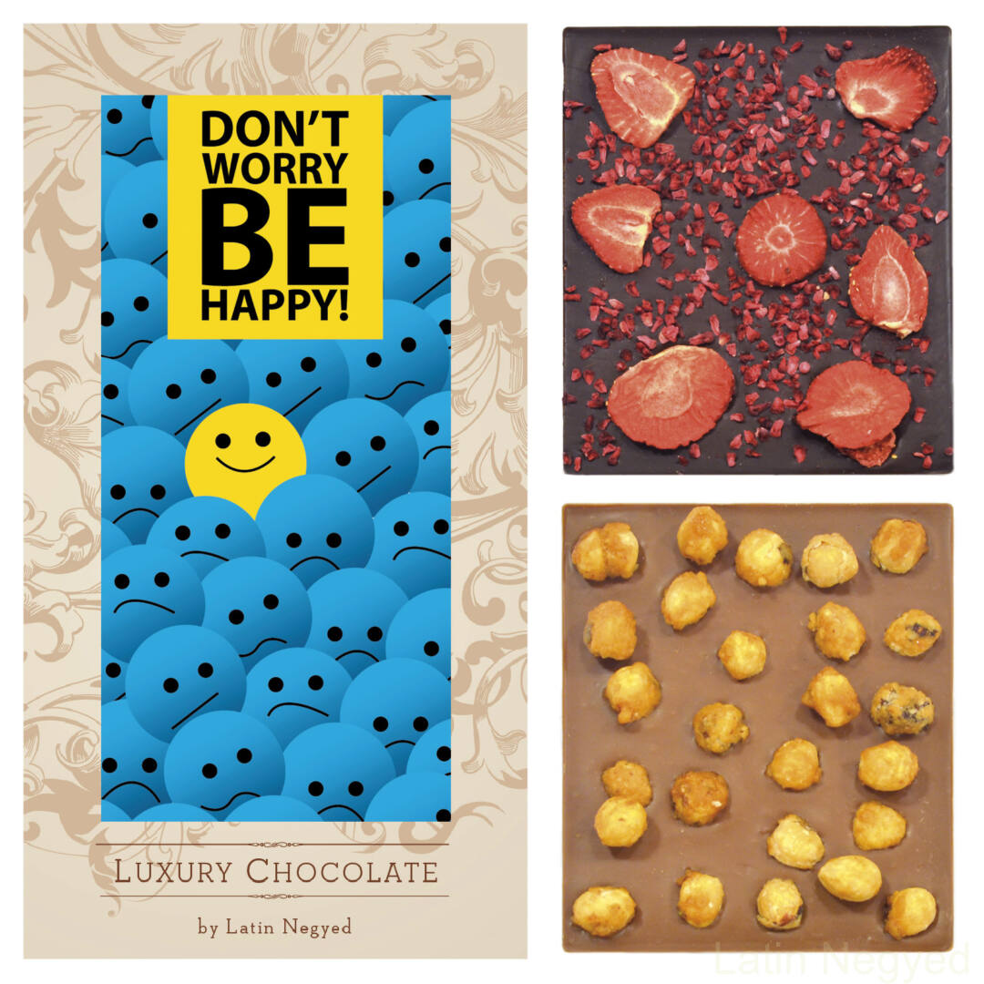 LUXURY CHOCOLATE DON'T WORRY BE HAPPY! 130G