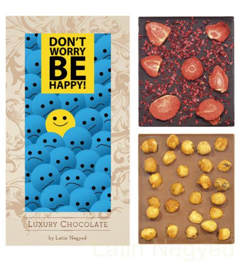 LUXURY CHOCOLATE DON'T WORRY BE HAPPY! 130G