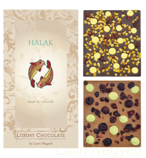 LUXURY CHOCOLATE HALAK HOROSZKÓP 130G