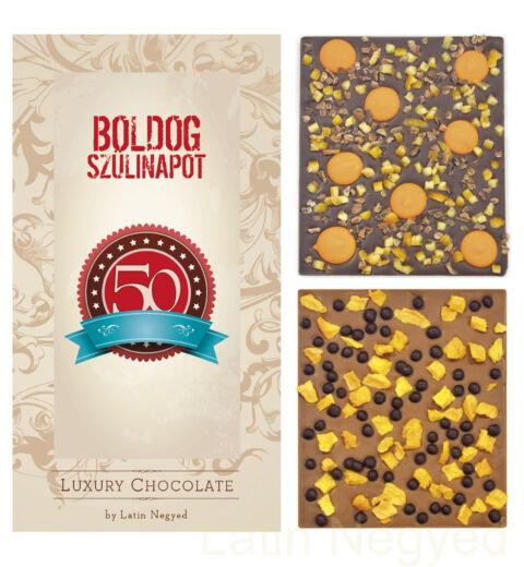 LUXURY CHOCOLATE 50. SZÜLINAP 130G