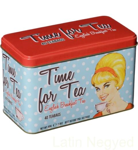 ENGLISH BREAKFAST FEKETE TEA 80G  tea idő minta