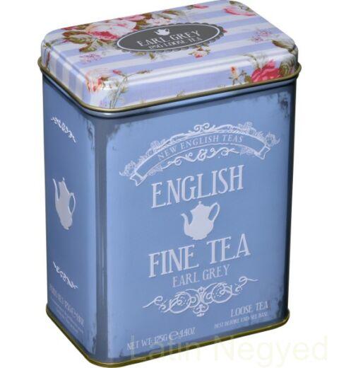 EARL GREY SZÁLAS  FEKETE TEA 125G  kék-virág minta