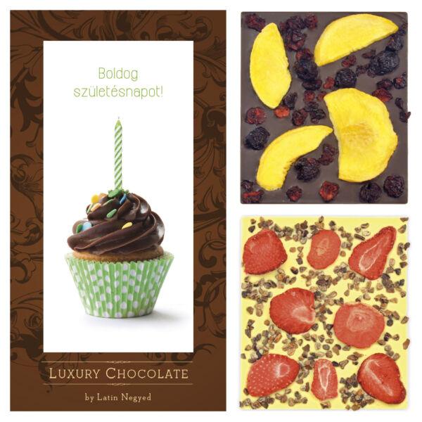 Luxury Chocolate boldog születésnapot 130g