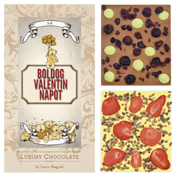 LUXURY CHOCOLATE BOLDOG VALENTIN NAPOT! 130G