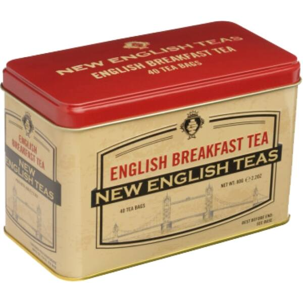 ENGLISH BREAKFAST FEKETE TEA 80G barna-piros minta