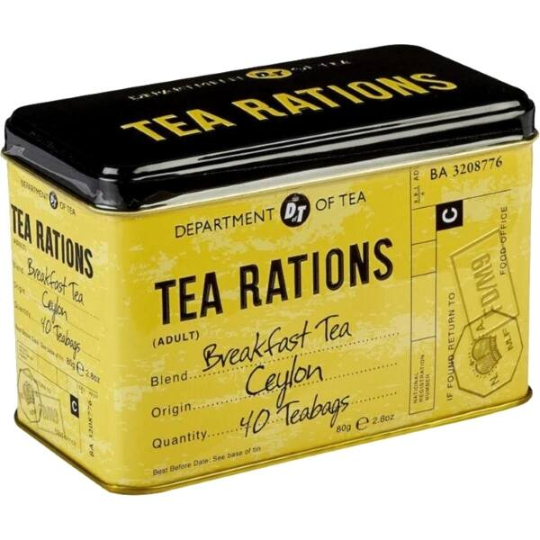 ENGLISH BREAKFAST FEKETE TEA 80G sárga-fekete minta